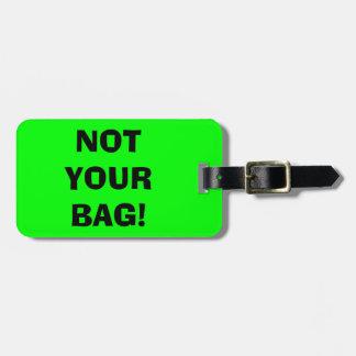 NO SUS etiquetas verdes de neón del equipaje del B Etiquetas Bolsas