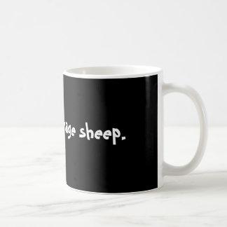 No sus ovejas medias taza básica blanca