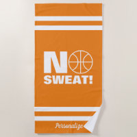 No Sweat basketball beach towel for summer