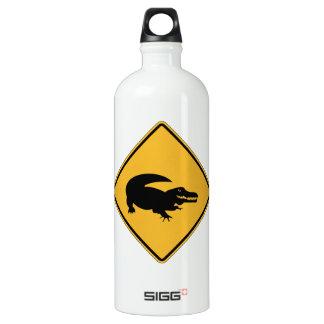 No Swimming - Alligators (1), Sign, Louisiana, US Water Bottle