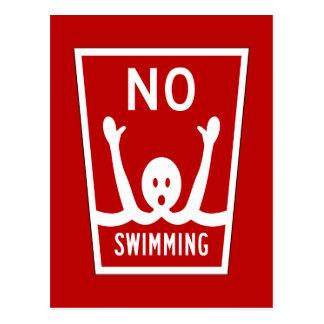 No Swimming, Sign, Florida, US Postcard