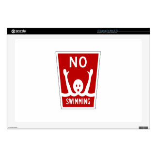 No Swimming, Sign, Florida, US Laptop Decal