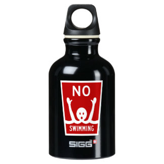 No Swimming, Sign, Florida, US Water Bottle