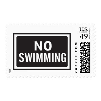 No Swimming Sign Postage