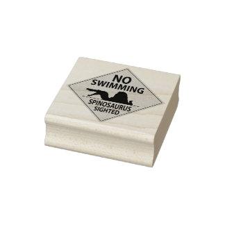 No Swimming - Spinosaurus Rubber Stamp