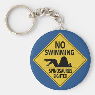 No Swimming – Spinosaurus Sighted Keychain