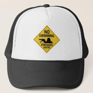 No Swimming – Spinosaurus Sighted Trucker Hat