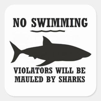 No Swimming Sticker