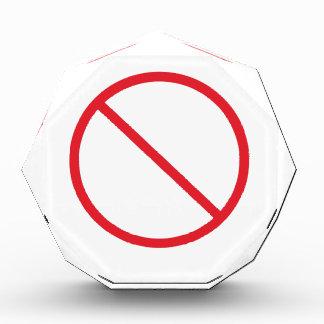 No Symbol Acrylic Award