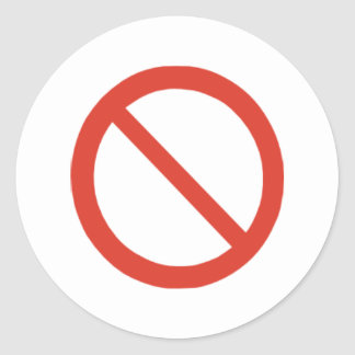 No Symbol Classic Round Sticker