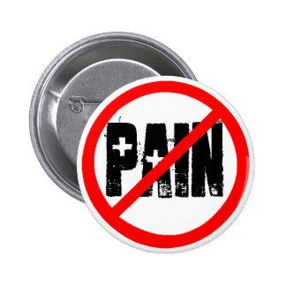 No symbol copy, Pain 2 Inch Round Button