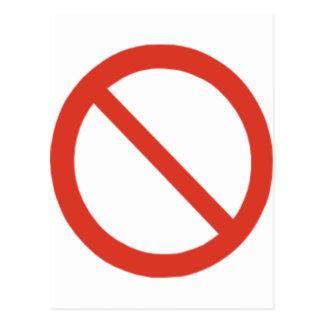 No Symbol Postcard