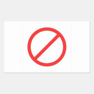 No Symbol Rectangular Sticker