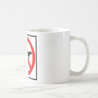No T-Rexes Highway Sign Dinosaur Coffee Mug