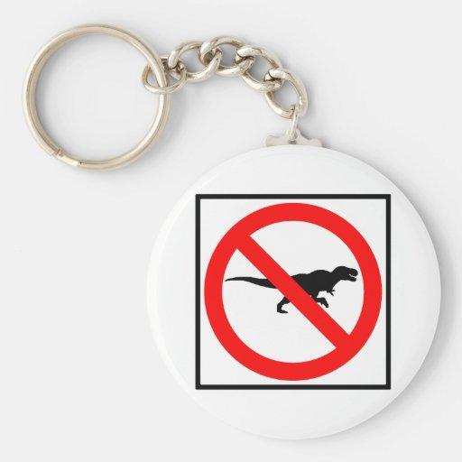 No T-Rexes Highway Sign Dinosaur Keychains