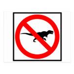 No T-Rexes Highway Sign Dinosaur Postcard