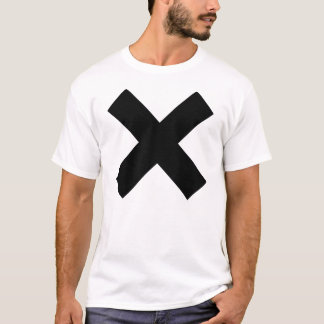No t-shirt black on white