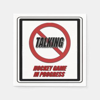 No Talking Hockey Game In Progress Paper Napkins