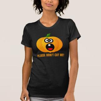 No talle por favor la calabaza asustada de Hallowe Camisetas
