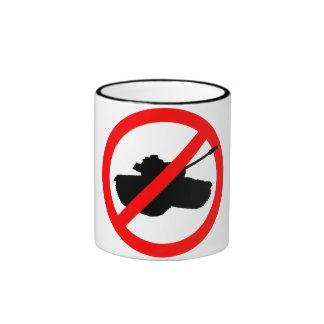 No Tanks, No War Ringer Mug
