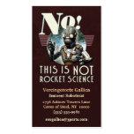 NO tarjeta de visita de la ingeniería espacial
