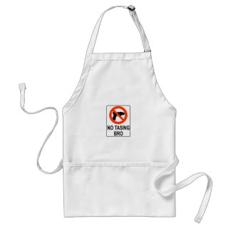 No Tasing Sign Adult Apron