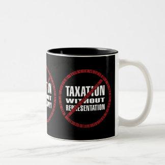 No Taxation Declaration Two-Tone Coffee Mug