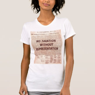 No Taxation Ladies T-Shirt Without Representation