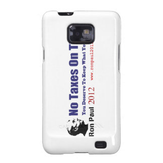 No Taxes On Tips Vote Ron Paul Revolution 2012 Galaxy S2 Case