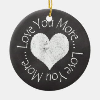No, te amo más adorno redondo de cerámica