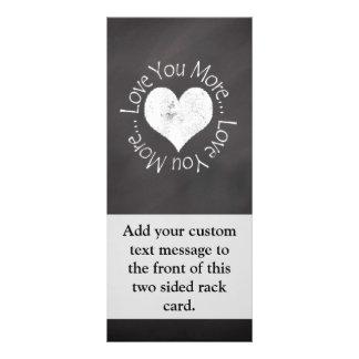 No, te amo más diseños de tarjetas publicitarias