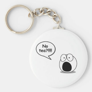 No Tea Keychain