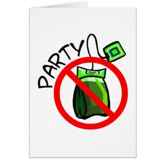 No Tea Party Anti Tea Party Card