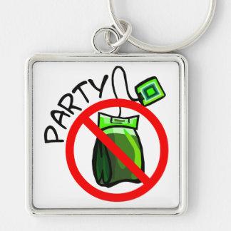 No Tea Party Anti Tea Party Key Chain