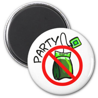 No Tea Party Anti Tea Party Magnet