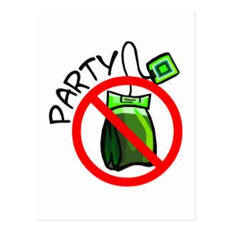 No Tea Party Anti Tea Party Postcard
