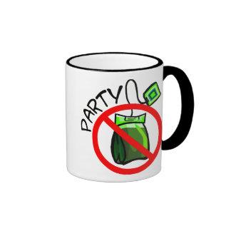 No Tea Party Anti Tea Party Ringer Mug
