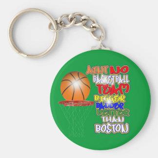 No Team Bigger Badder Better Than Boston (celtics) Basic Round Button Keychain