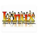 No tema el pingüino postal