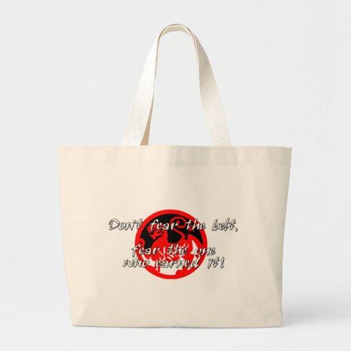 No tema la correa bolsas lienzo