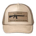 No tema ningún gorra negro malvado del rifle