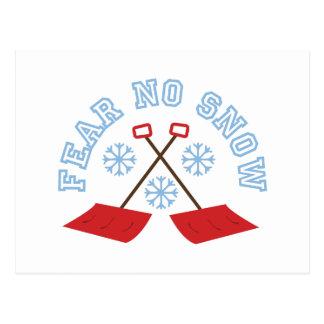 No tema ninguna nieve postal