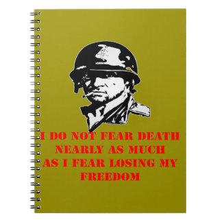No temo el miedo de la muerte I que pierde mi Libreta