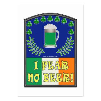 No temo ninguna cerveza tarjeta personal