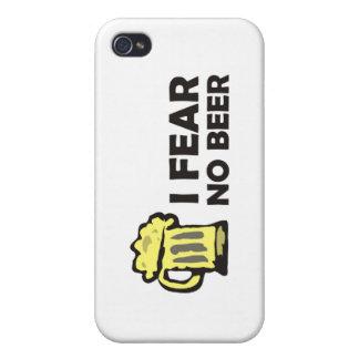 No temo ninguna cerveza, taza que hace espuma iPhone 4 funda