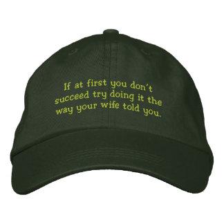 No tenga éxito - el gorra divertido gorra bordada