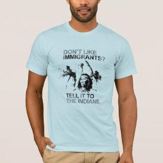 No tenga gusto de los inmigrantes, lo dicen a los playera
