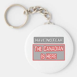 No tenga ningún miedo. El canadiense está aquí Llavero Redondo Tipo Pin