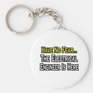 No tenga ningún miedo, el ingeniero eléctrico está llavero redondo tipo pin