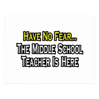 No tenga ningún miedo, el profesor de escuela tarjetas postales